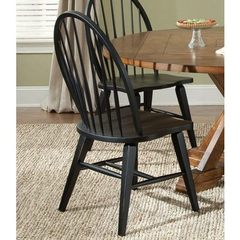 Buy Liberty Furniture Hearthstone Windsor Back Side Chair in Black on sale online