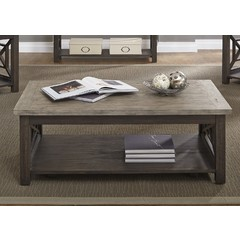 Buy Liberty Furniture Heatherbrook 48x28 Rectangular Cocktail Table on sale online