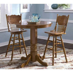 Buy Liberty Furniture Nostalgia 3 Piece 36 Inch Round Counter Height Set in Oak on sale online
