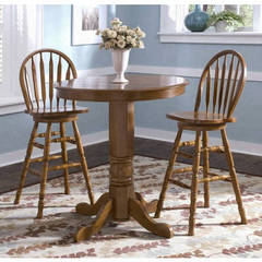 Buy Liberty Furniture Nostalgia 3 Piece 36 Inch Round Counter Height Set w/ Arrow Back Counter Height Stool in Oak on sale online