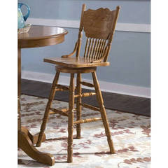 Buy Liberty Furniture Nostalgia 30 Inch Press Back Barstool on sale online