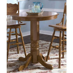 Buy Liberty Furniture Nostalgia Traditional 36x36 Round Counter Height Table in Oak on sale online