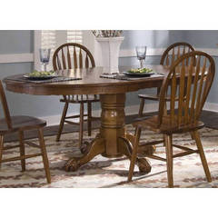 Buy Liberty Furniture Nostalgia Traditional 72x48 Oval Dining Table Oak on sale online