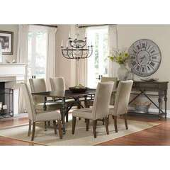 Buy Liberty Furniture Ivy Park 8 Piece 76x42 Rectangular Dining Room Set on sale online