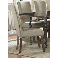 Buy Liberty Furniture Ivy Park Upholstered Side Chair (RTA) in Weathered Honey on sale online