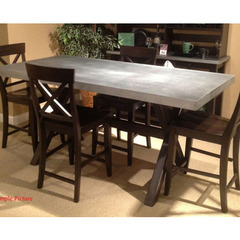 Buy Liberty Furniture Keaton II Gathering 76x38 Table in Charcoal w/Zinc Metal Top on sale online
