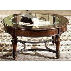 Buy Liberty Furniture Kingston Plantation 39 Inch Round Cocktail Table in Cognac on sale online