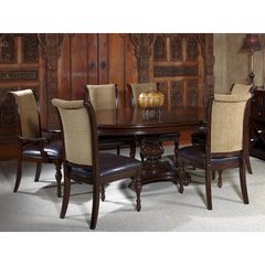 Buy Liberty Furniture Kingston Plantation 7 Piece 72x54 Dining Room Set in Cognac, Dark Wood on sale online