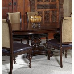 Buy Liberty Furniture Kingston Plantation 72x54 Oval Dining Table in Cognac, Dark Wood on sale online