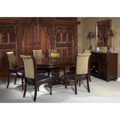 Buy Liberty Furniture Kingston Plantation 8 Piece 72x54 Dining Room Set w/ Server in Cognac, Dark Wood on sale online
