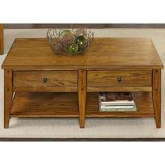 Buy Liberty Furniture Lake House 48x27 Rectangular Cocktail Table in Oak on sale online