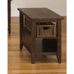 Buy Liberty Furniture Lakewood 27x17 Rectangular Basket End Table in Cherry, Dark Wood on sale online