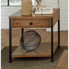 Buy Liberty Furniture Lancaster Factory 26x24 Rectangular End Table in Medium Wood on sale online