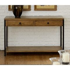 Buy Liberty Furniture Lancaster Factory 48x18 Rectangular Sofa Table in Medium Wood on sale online