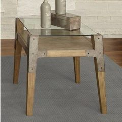 Buy Liberty Furniture Loire 27x24 Rectangular End Table in Natural on sale online