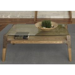 Buy Liberty Furniture Loire 48x28 Rectangular Cocktail Table in Natural on sale online