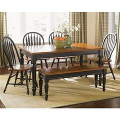 Buy Liberty Furniture Low Country Black 6 Piece 58x38 Rectangular Dining Room Set w/ Windsor Back Chairs on sale online