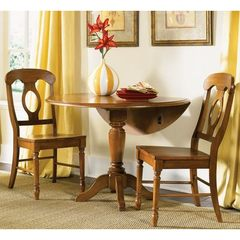 Buy Liberty Furniture Low Country Bronze 3 Piece 42x42 Round Drop Leaf Dining Set w/ Napoleon Back Chairs on sale online