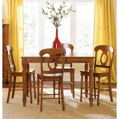 Buy Liberty Furniture Low Country Bronze 5 Piece 54x54 Gathering Counter Height Set w/ Napoleon Back Stools on sale online