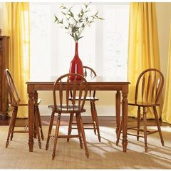 Buy Liberty Furniture Low Country Bronze 5 Piece 54x54 Square Counter Height Set w/ Windsor Stools on sale online