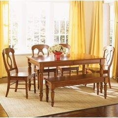 Buy Liberty Furniture Low Country Bronze 6 Piece 58x38 Dining Room Set w/ Napoleon Back Side Chairs and Bench on sale online