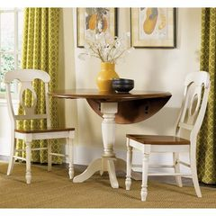 Buy Liberty Furniture Low Country Sand 3 Piece 42x42 Round Dining Room Set w/ Napoleon Back Chairs on sale online