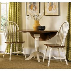 Buy Liberty Furniture Low Country Sand 3 Piece 42x42 Round Dining Room Set w/ Windsor Back Chairs on sale online
