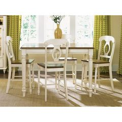 Buy Liberty Furniture Low Country Sand 5 Piece 54x54 Square Counter Height Set w/ Napoleon Back Stools on sale online