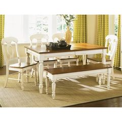 Buy Liberty Furniture Low Country Sand 6 Piece 58x38 Rectangular Dining Room Set w/ Napoleon Back Chairs on sale online