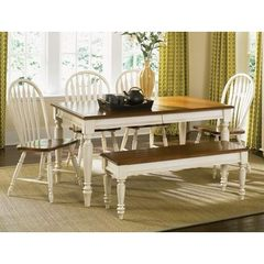 Buy Liberty Furniture Low Country Sand 6 Piece 58x38 Rectangular Dining Room Set w/ Windsor Back Chairs on sale online