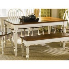 Buy Liberty Furniture Low Country Sand 58x38 Rectangular Leg Table on sale online