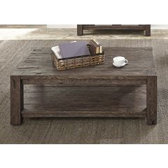 Buy Liberty Furniture Mercer Court 50x30 Rectangular Cocktail Table on sale online