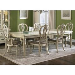 Buy Liberty Furniture Messina Estates 7 Piece II 108x44 Dining Room Set in Ivory, Light Wood on sale online