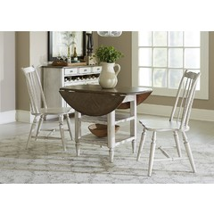 Buy Liberty Furniture Oak Hill 3 Piece 42x42 Round Dining Room Set on sale online