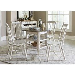 Buy Liberty Furniture Oak Hill 5 Piece 42x42 Round Dining Room Set on sale online