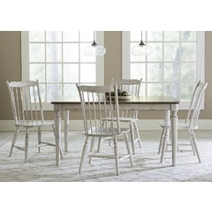 Buy Liberty Furniture Oak Hill 5 Piece 78x40 Rectangular Dining Set on sale online