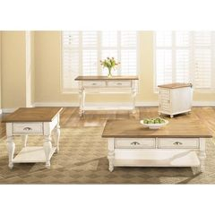 Buy Liberty Furniture Ocean Isle 4 Piece 50x26 Occasional Table Set in Bisque and Pine on sale online