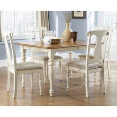 Buy Liberty Furniture Ocean Isle 5 Piece 72x38 Dining Room Set in Bisque White, Pine on sale online