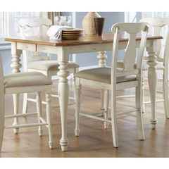 Buy Liberty Furniture Ocean Isle 54x54 Square Counter Height Table in Bisque White, Pine on sale online