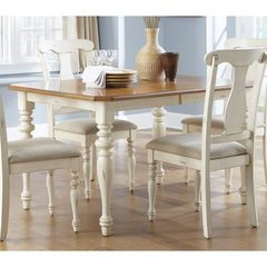 Buy Liberty Furniture Ocean Isle 72x38 Rectangular Dining Table in Bisque White, Pine on sale online
