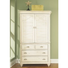 Buy Liberty Furniture Ocean Isle Armoire in Bisque w/ Natural Pine on sale online
