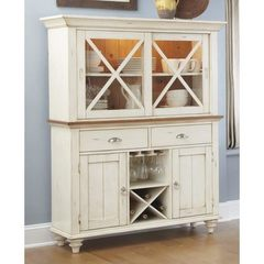 Buy Liberty Furniture Ocean Isle Traditional Buffet w/ Hutch in White on sale online