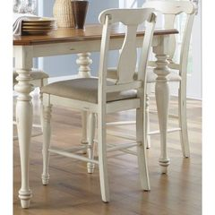 Buy Liberty Furniture Ocean Isle Traditional Counter Height Chair in White, Beige on sale online