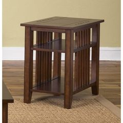 Buy Liberty Furniture Prairie Hills 26x16 Rectangular Chairside Table in Cherry, Medium Wood on sale online