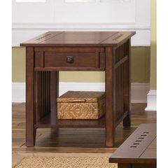 Buy Liberty Furniture Prairie Hills 26x21 Rectangular End Table in Cherry, Medium Wood on sale online