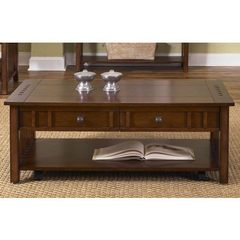 Buy Liberty Furniture Prairie Hills 46x24 Rectangular Cocktail Table in Cherry, Medium Wood on sale online