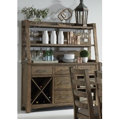 Buy Liberty Furniture Prescott Valley Server w/ Hutch on sale online