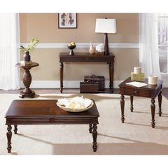 Buy Liberty Furniture Royal Landing 4 Piece 48x28 Occasional Table Set in Cherry, Dark Wood on sale online