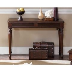Buy Liberty Furniture Royal Landing 48x18 Rectangular Sofa Table in Cherry, Dark Wood on sale online