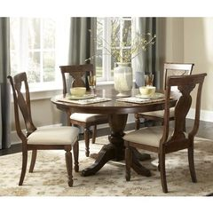 Buy Liberty Furniture Rustic Tradition 5 Piece 72x54 Dining Room Set in Cherry, Medium Wood on sale online